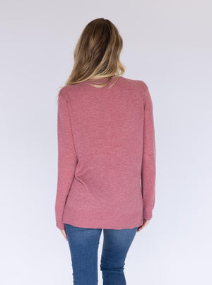 Maternity Oversize Wool Knit Jumper - Rose