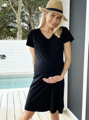 Maternity Casual Cotton T-Shirt Dress Lifestyle