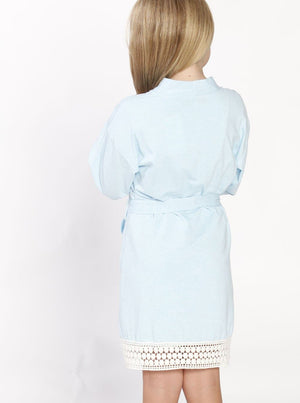 Ruby Joy Daughter Robe - Light Blue back