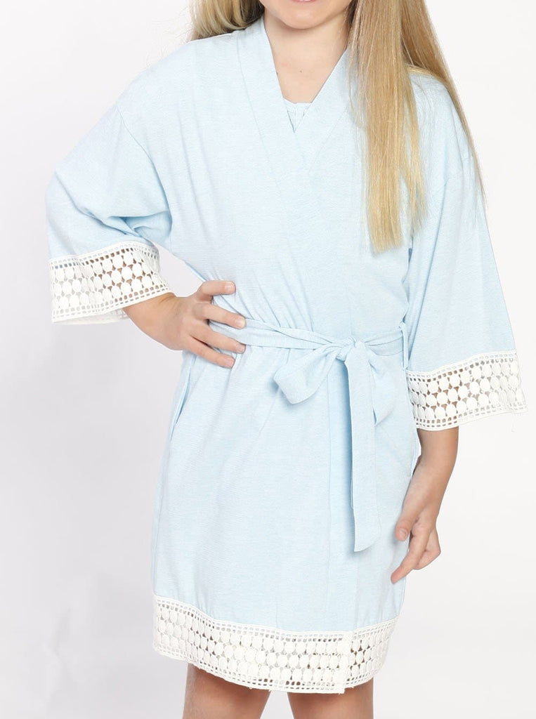 Ruby Joy Daughter Robe - Light Blue front