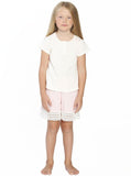 Ruby Joy Daughter Sleepwear Set - Off White/ Pink