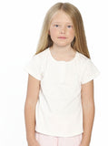 Ruby Joy Daughter Sleepwear Set - Off White/ Pink- top