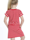TDD - The Daughter Drawstring Dress - Red & White Stripes - Angel Maternity - Maternity clothes - shop online