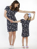 TDD - The Daughter Drawstring Dress - Floral Print - Angel Maternity - Maternity clothes - shop online