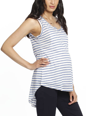 Maternity Busy Mummy Nursing Tank in Grey