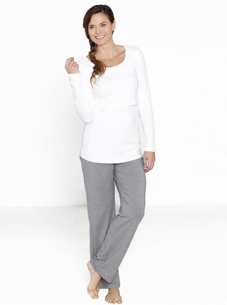 Maternity Lounge Wear Set with Nursing Breastfeeding opening