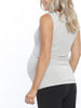 Maternity Busy Mummy Nursing Tank in Grey pregnancy fashion