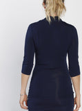 The V-Neck Crossover Maternity Top - Navy back