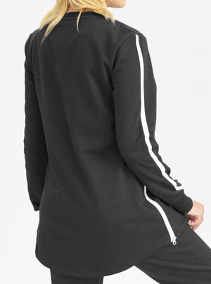 Maternity Black Tracksuit Set with Nursing Singlet