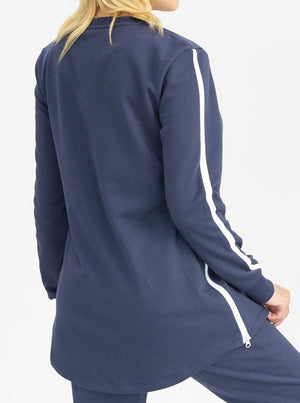 Tracksuit set in Navy - Maternity and Nursing Friendly top back