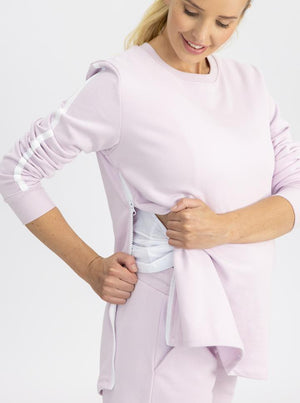 Maternity and Nursing Tracksuit Set in Lilac