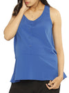 Maternity Button Front Smart Nursing Top in Blue
