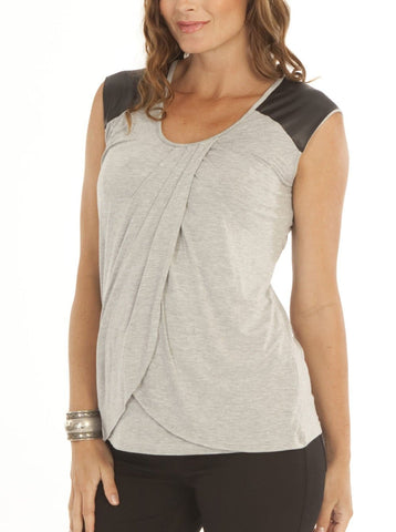 Basic Maternity Nursing Tank in Blue