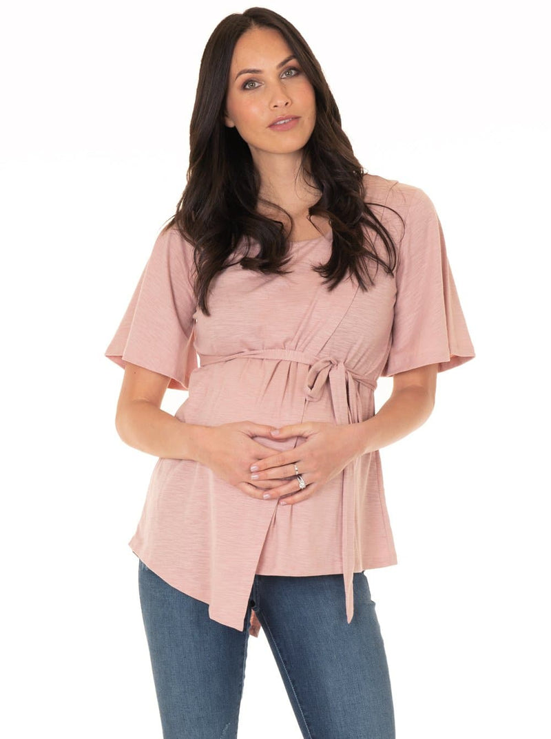 maternity wrap top