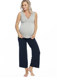 Nursing Top & Bamboo Pants Sleepwear Pyjama Lounge Set - comfortable maternity clothing