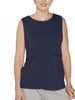 Breastfeeding Sleeveless Pull Up Top in Navy - Angel Maternity - Maternity clothes - shop online