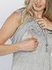 Breastfeeding Sleeveless Pull Up Top in Grey - Angel Maternity - Maternity clothes - shop online