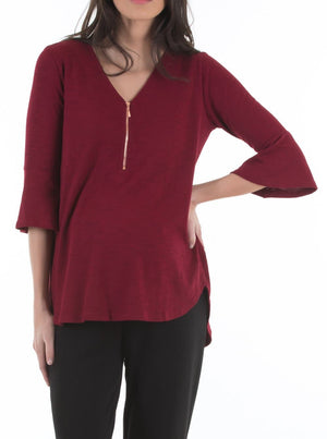zipper nursing top