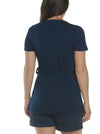 Maternity/ Nursing Wrap Top - Navy