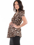 maternity top in animal print