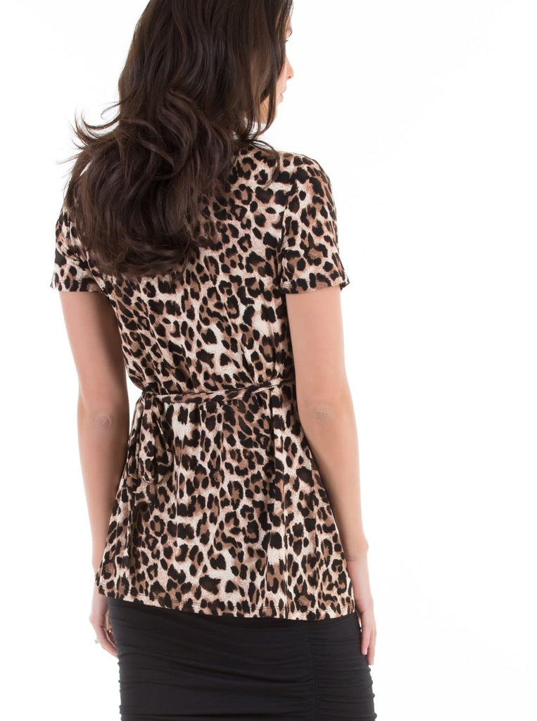 Maternity/ Nursing Wrap Top - Animal Print