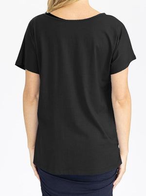 Reversible Maternity T-Shirt in Black back