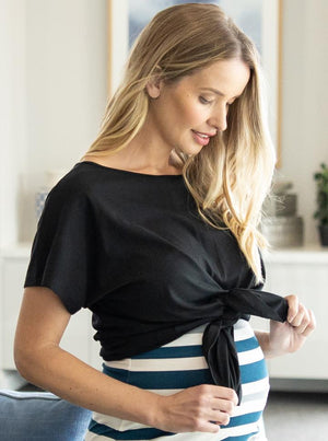 Reversible Maternity T-Shirt in Black