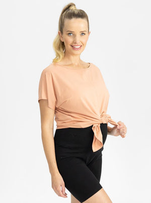 Reversible Maternity T-Shirt in Peach main
