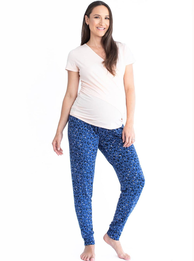 Maternity & Nursing Relax Loungewear Outfit - Blue