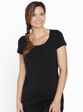 Breastfeeding Basic Nursing Tee - Black