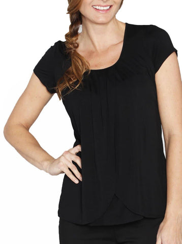 Basic Breastfeeding Nursing Tee - Black/ Grey/ White