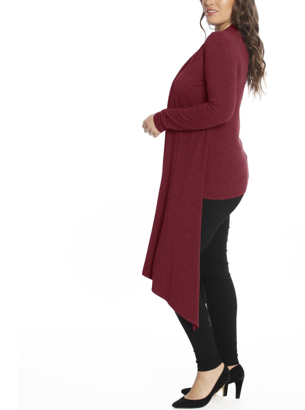 Maternity & Nursing Bamboo Drapped Front Top - Red