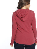 Nursing Hoodie Breastfeeding Top - Red