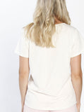 Nursing Tee Top with Front Button Opening - Off White back