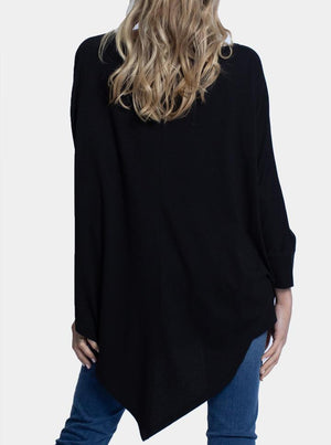 Maternity Loose Fit Oversize Tee - Black