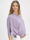 Maternity Loose Fit Oversize Tee - Purple