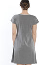 Nursing Night Crossover Dress - Grey - Angel Maternity - Maternity clothes - shop online