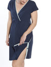 Hospital Birthing Gown/Night Dress with Nursing Access - Dark Navy