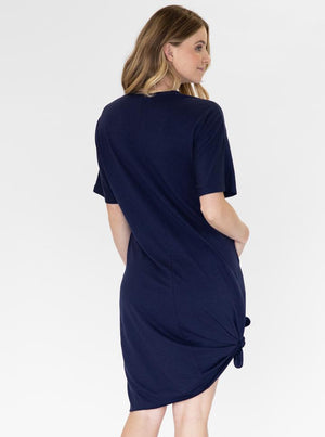 Mama Hospital Nightie in Navy