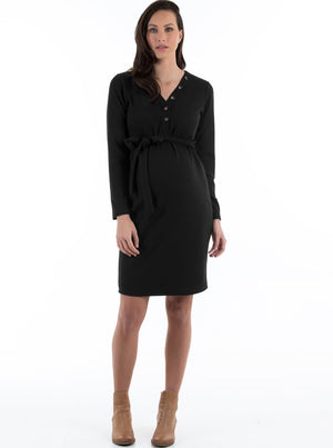 black maternity dress