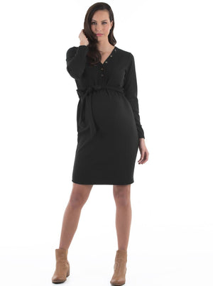 maternity button dress