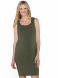 Breastfeeding Classic Nursing Tank Dress - Khaki