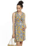 Maternity Tunic Drawstring Nursing Dress - Tribal Print breastfeeding dress