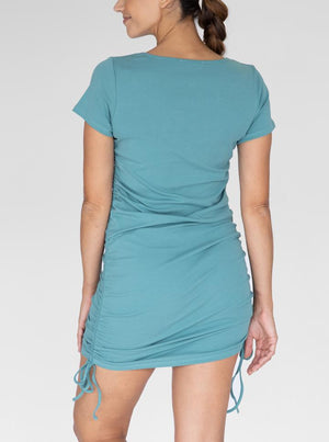 Maternity and Nursing Bodycon in Sage back