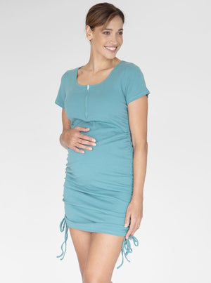 Maternity and Nursing Bodycon in Sage front