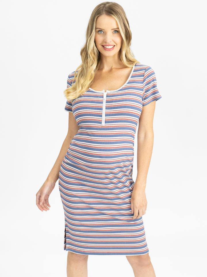 Maternity and Nursing Bodycon with Stripes