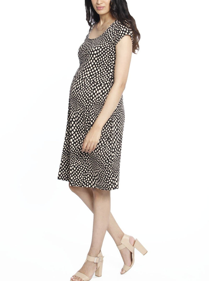 Busy Mummy Maternity Dress with Easy Nursing Opening dress