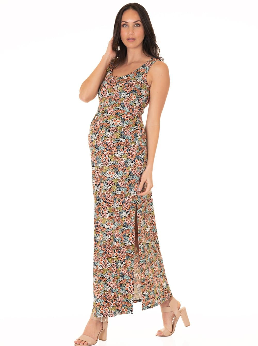 nursing summer long dress
