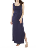 Breastfeeding Maxi Busy Mama Nursing Dress in Navy