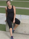 Maternity Comfortable Workout Leisure Yoga Set - Black
